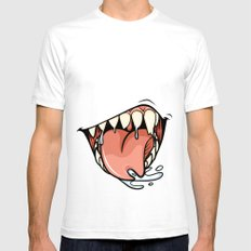 HUNGER White SMALL Mens Fitted Tee