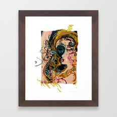 danae and shower of gold Framed Art Print