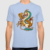 SPIRITED CREST Mens Fitted Tee Tri-Blue SMALL