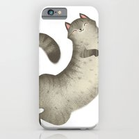 iPhone & iPod Case featuring Happy Kitty by emilydove