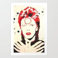 GLAM ROCKER Art Print