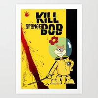 Kill Spongebob Art Print