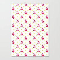 Dots And Cherries Canvas Print