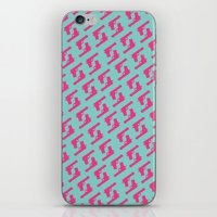 Mint and pink guns iPhone & iPod Skin