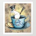 Tea Mouse Art Print