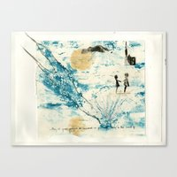 Mermaid of Zennor collagraph 3 Canvas Print