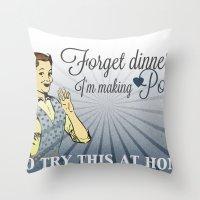 Making Potion Throw Pillow