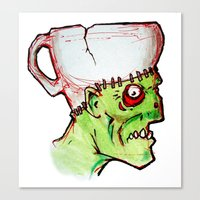 coffee zombie notext Canvas Print