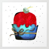 Strawberry Ice cream with pineapple Chips Mint Fudge Art Print
