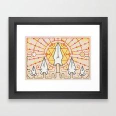Sun Stands Still (by Alex Griendling) Framed Art Print