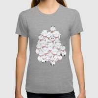 FIND THE PANDA - LUCKY CAT Womens Fitted Tee Tri-Grey SMALL