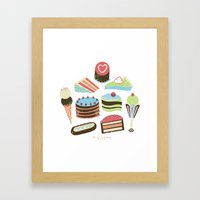Too Sweet! Framed Art Print