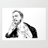 justin vernon Art Print