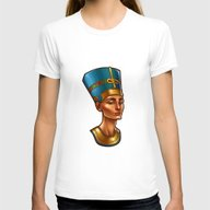 Nefertiti's Quest : Nefe… Womens Fitted Tee White SMALL