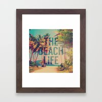 Beach Life Framed Art Print
