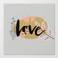 Love for valentine's day Canvas Print