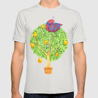 Partridge in a Pear Tree Mens Fitted Tee Silver SMALL