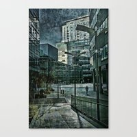 Media City Blues Canvas Print