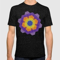 Patchwork Tiles Mens Fitted Tee Tri-Black SMALL