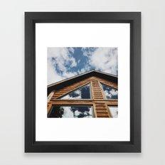 Cabin Window Framed Art Print