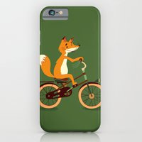 iPhone & iPod Case featuring Little fox on the bike by Tatiana Obukhovich