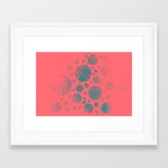 Abstract Fireworks #2 Framed Art Print