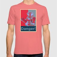 Danger!!!! Mens Fitted Tee Pomegranate SMALL