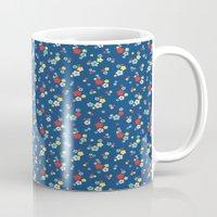 blossom ditsy in monaco blue Mug