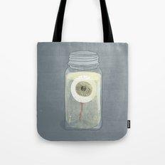Eyeball in Mason Jar Tote Bag
