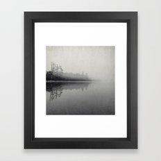 gray morning Framed Art Print