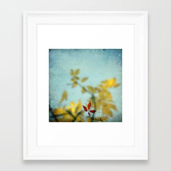 When Red meets Yellow Framed Art Print