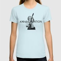Amalgamation #3 Womens Fitted Tee Light Blue SMALL