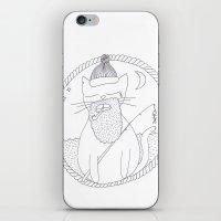 Cat Fisherman iPhone & iPod Skin