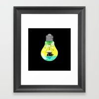 The idea of sailing the seas Framed Art Print