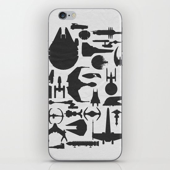 Famous Sci Fi Ships iPhone & iPod Skin