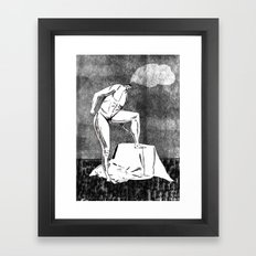 daydreaming while posing  Framed Art Print