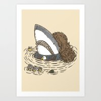 The Mullet Shark Art Print