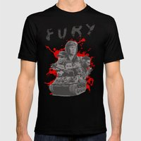 Fury Mens Fitted Tee Black SMALL