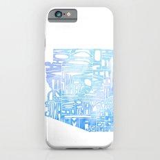 Typographic Arizona - Blue Watercolor Slim Case iPhone 6s