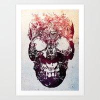 skull Art Prints featuring SKULL by Ali GULEC