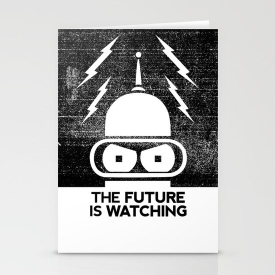 The Future Is Watching Stationery Card