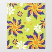 Flowerswirl Canvas Print