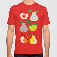 Apples And Pears / Geome… Mens Fitted Tee Red SMALL