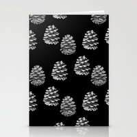 Pine Cones Monochrome On… Stationery Cards
