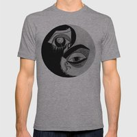 ying yang Mens Fitted Tee Athletic Grey SMALL