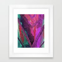 Purple Chevron Framed Art Print