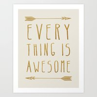 Everything Is Awesome (b… Art Print