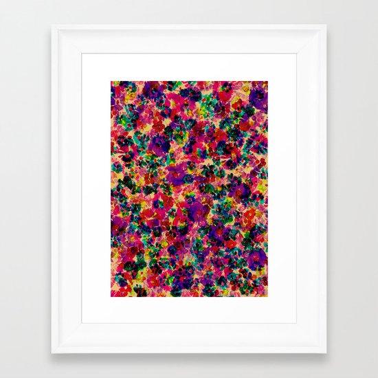 Floral Explosion Framed Art Print