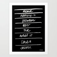 LINES /2/ Art Print