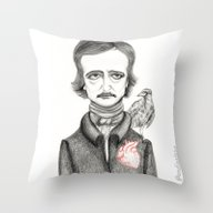 Throw Pillow featuring Allan Poe by Pendientera